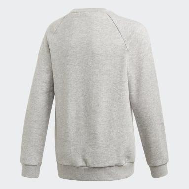 Barn Originals Grå Adicolor Crew Sweatshirt