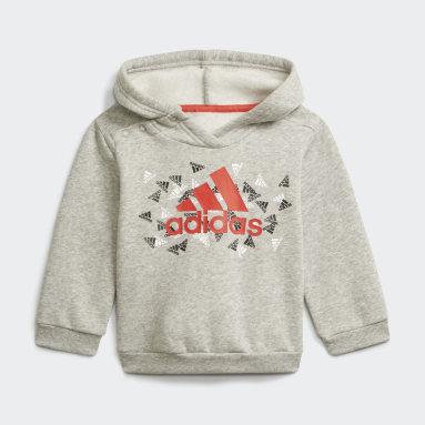 Ensemble sportswear Badge of Sport Graphic Gris Enfants Fitness Et Training