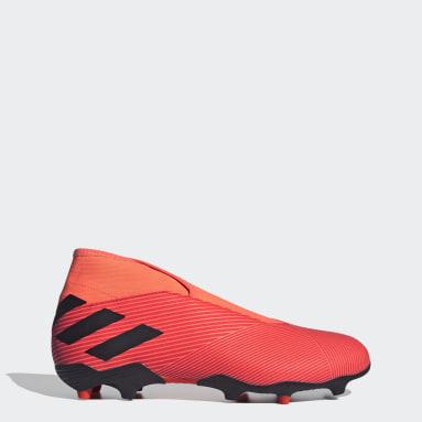 Men Football Orange Nemeziz 19.3 Laceless Firm Ground Boots