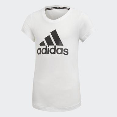 Girls Yoga White Must Haves Badge of Sport T-Shirt