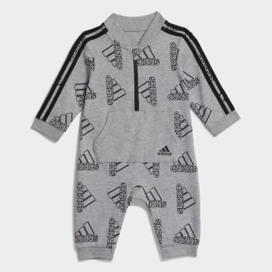 Infant & Toddler Training Grey Allover Print Track Suit Coveralls