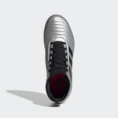 Calzado de Fútbol Predator Tango 19.3 Césped Artificial (UNISEX) Plata Niño Fútbol
