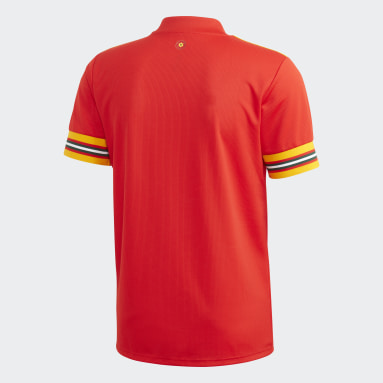 Voetbal Rood Wales Thuisshirt