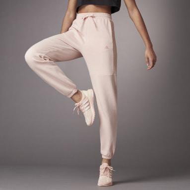 Women Sportswear Pink Hyperglam Shiny Joggers
