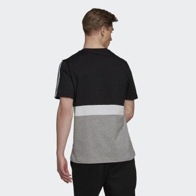 Camiseta Essentials Colorblock Negro Hombre Sportswear