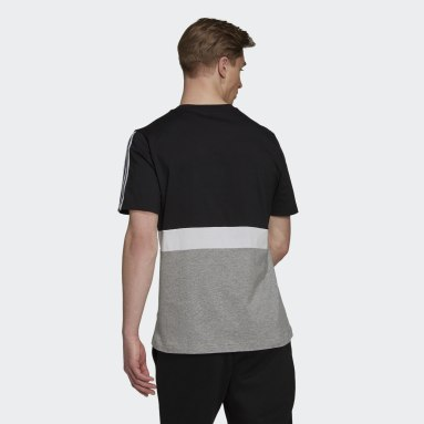 Men Sportswear Black Essentials Colorblock T-Shirt