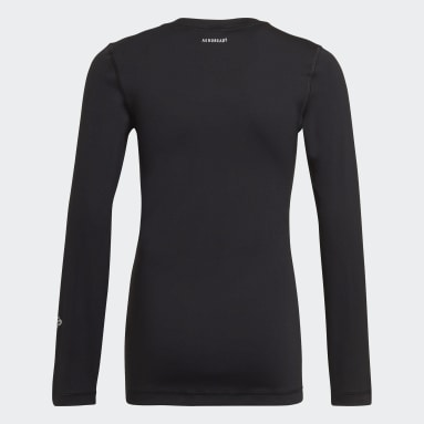 Boys Gym & Training Black AEROREADY Long Sleeve Tee