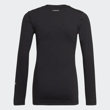 Kluci Cvičení A Trénink černá Tričko AEROREADY Long Sleeve