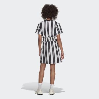 Women Originals White Smocked Stripe Dress