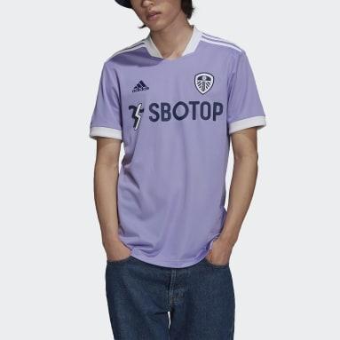 Camisola do Terceiro Equipamento 21/22 do Leeds United Roxo Futebol