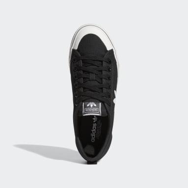 Women's Originals Black Nizza Trefoil Shoes
