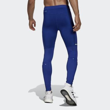 Men's Running Blue Saturday Warm Running Leggings