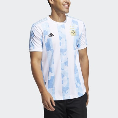 Football White Argentina Home Authentic Jersey