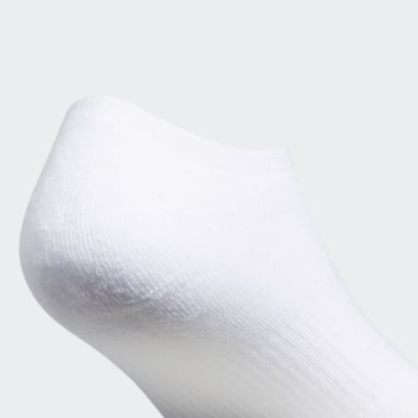 Men's Originals White Trefoil No-Show Socks 6 pairs