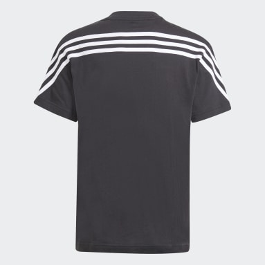 Youth 8-16 Years Sportswear Black Future Icons 3-Stripes T-Shirt