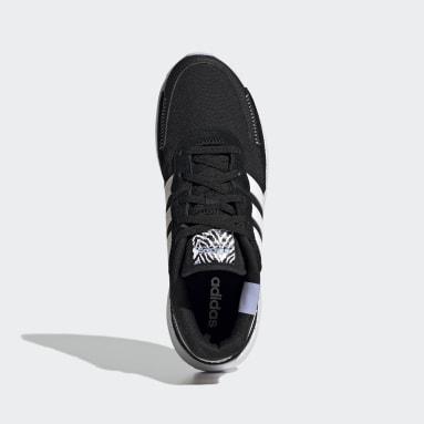 Women's Essentials Black Retrorun Shoes