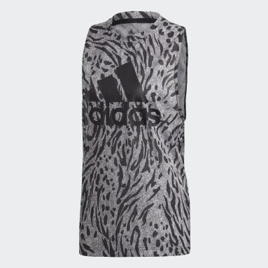 Polera sin mangas Estampada Gris Mujer adidas by Stella McCartney