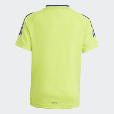 Jongens Fitness En Training Geel AEROREADY Messi Football-Inspired Iconic Voetbalshirt