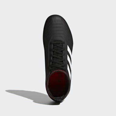 Calzado Predator 18.3 Firm Ground Negro Niño Fútbol
