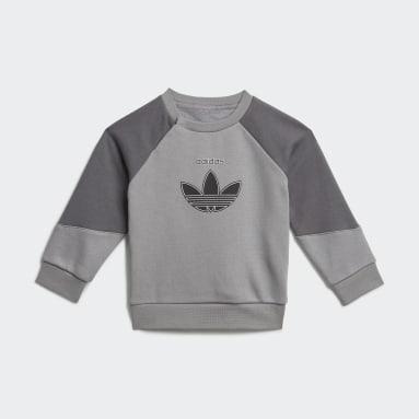 Infant & Toddler Originals Grey adidas SPRT Collection Crew Set