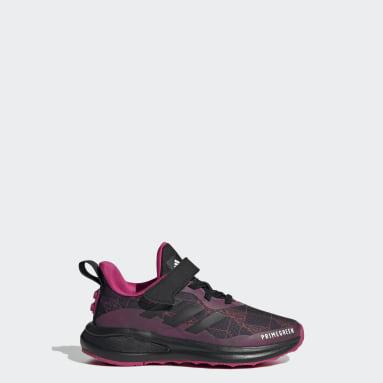 Barn Löpning Svart adidas FortaRun x LEGO® Elastic Lace Top Strap Shoes