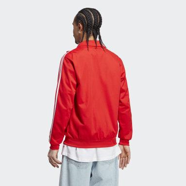 Chamarra Deportiva Adicolor Classics Beckenbauer Primeblue Rojo Hombre Originals