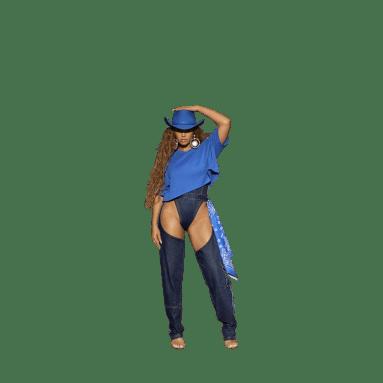 Playera Corta Azul Mujer Originals