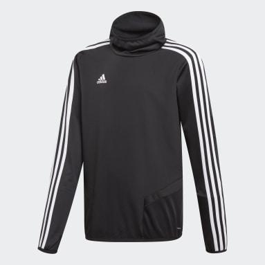 Kinderen Fitness En Training Zwart Tiro 19 Warm Sweatshirt