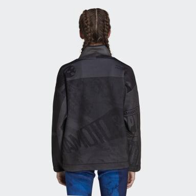 Sweat-shirt Y-3 Velvet Spacer Zine Allover Print Half Zip Noir Femmes Y-3