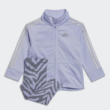 Infant & Toddler Training Purple Tricot Jacket and Cotton Tights Set