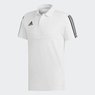 Männer Fußball Tiro 19 Cotton Poloshirt Weiß