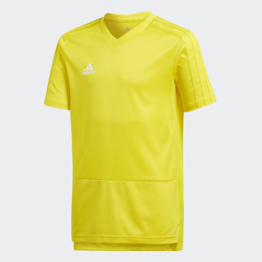 Camiseta entrenamiento Condivo 18 Amarillo Niño Fútbol