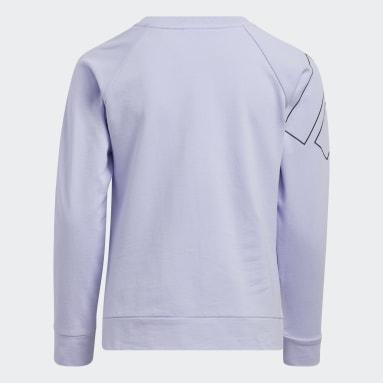 Youth Training Purple French Terry Crewneck Sweatshirt