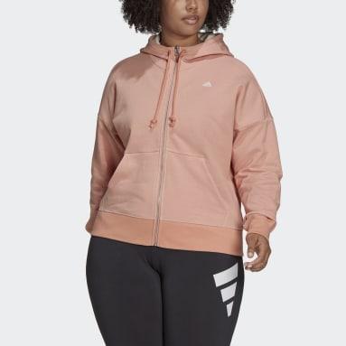 Women's Sportswear Pink adidas Sportswear Seasonals Stadium Hooded Track Jacket (Plus Size)
