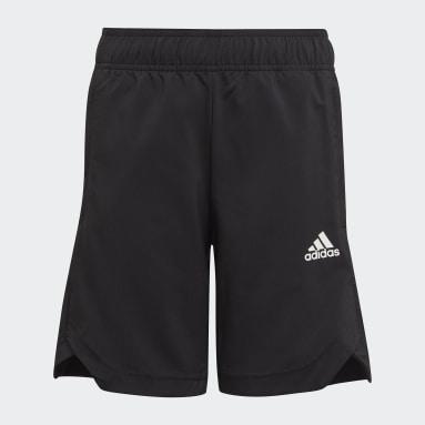Youth 8-16 Years Gym & Training Black AEROREADY Woven 3-Stripes Shorts