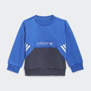 Børn Originals Blå adidas SPRT Collection Crew sæt