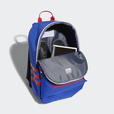 Children Training Blue Classic 3-Stripes Backpack