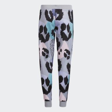 Youth Training Grey Allover Print Tricot Joggers