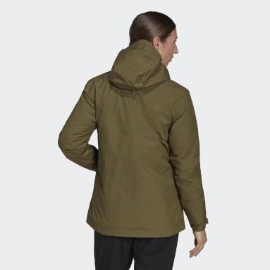 Giacca impermeabile Terrex Multi RAIN.RDY Primegreen Insulated 2L Verde Donna TERREX