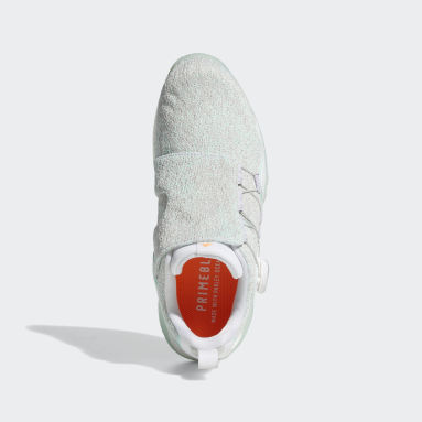 Women Golf White Codechaos BOA 21 Primeblue Spikeless Golf Shoes