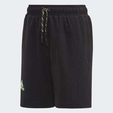 Boys Tennis Black New York Shorts
