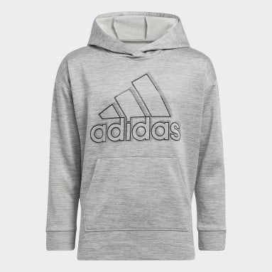 Youth Training Grey Mélange Fleece Hoodie (Extended Size)