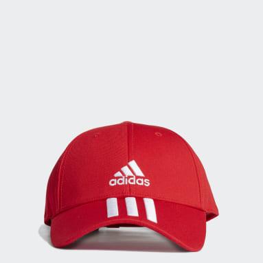 Training Red Baseball 3-Stripes Twill Cap