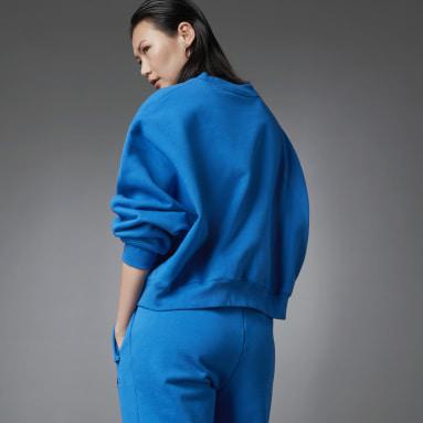 Felpa Fashion Essentials Batwing Crew Blu Donna Originals