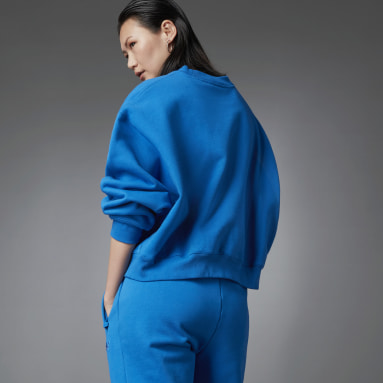 Sweat-shirt Fashion Essentials Batwing Crew Bleu Femmes Originals