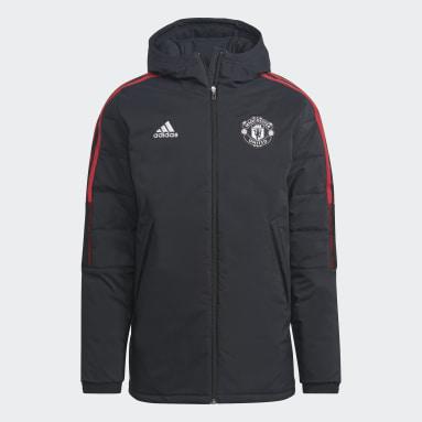 черный Зимняя куртка Манчестер Юнайтед