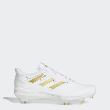 Men's Baseball White Adizero Afterburner 8 Cleats
