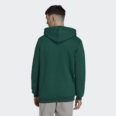 Men's Originals Green Adicolor Essentials Trefoil Hoodie