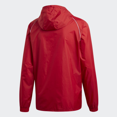 Men Gym & Training Red Core 18 Rain Jacket