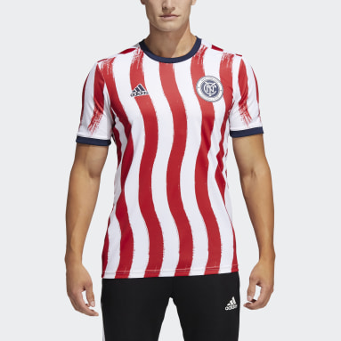 Men's Soccer Multi New York City FC Americana Pre-Match Jersey